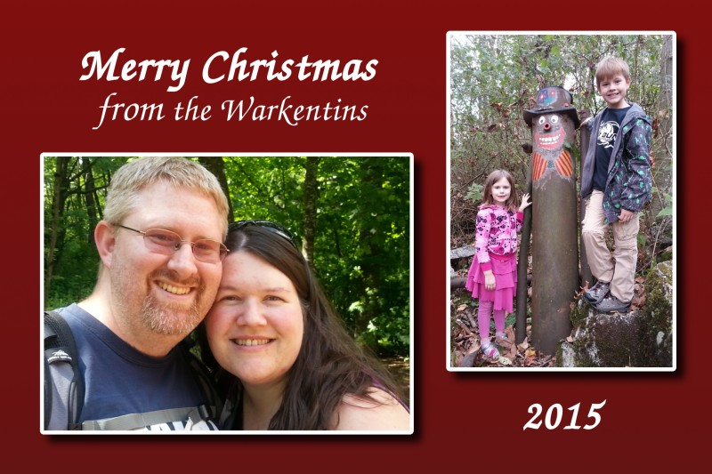 Warkentin Family Christmas Card 2015